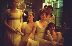 The Bennets - Pride & Prejudice (2005) #janeausten I love how it is slightly out of focus but still every Sister is looking at the camera