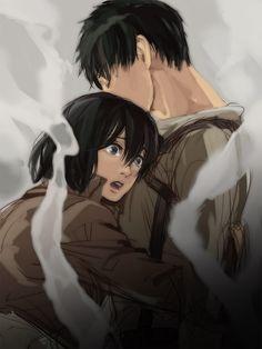 Mikasa et Eren Attack On Titan Season, Attack On Titan Eren, Attack On Titan Ships, Attack On Titan Fanart, Mikasa X Eren, Armin, 5 Anime, Fanarts Anime, Attack On Titan English