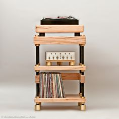 Quality Sound For Home Audio and Home Theater Hifi Stand, Best Vinyl Records, Record Player Stand, Vinyl Record Storage, Audio Room, Particle Board, Wood Cabinets, Decoration, Diy Projects