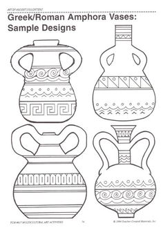 4 Efficient Tricks: Unique Vases For Wedding crystal vases etsy.Vases Centerpieces With Pictures geometric vases medium.Vases Repurpose Tin Cans. Greek Crafts, Greece Art, Ancient Greek Art, Grands Vases, Greek Pottery, Vase Design, Paper Vase, Clay Vase, Wooden Vase