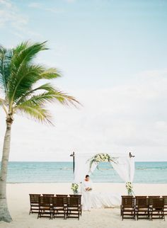 Destination weddings are the perfect combination of wedding and leisure, sentiment and fun in the sun, celebrating love and a gorgeous vacation... all in one fell swoop. Of course, when that fell swoop happens upon Mexico and is documented by Laura Ivanova Photography and Hollywood Cinema it becomes more like a beautiful ballet leap into Mr. and Mrs.- dom.…