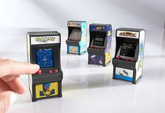Stocking World's Smallest Arcade Machines (Set of @ Sharper Image Mini Things, Small Things, Mini Craft, Retro Videos, Miniature Crafts, Miniture Things, Small World, Doll Accessories, Arcade Games