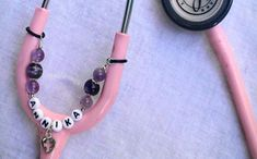 Nurse bling: Personalized stethoscope charm chain