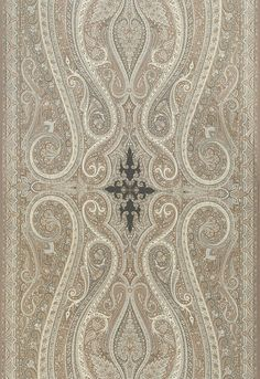 Pasha Paisley in Stone, 174803.  http://www.fschumacher.com/search/ProductDetail.aspx?sku=174803 #Schumacher