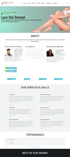 WordPress site conturacosmetic.com uses the The7 theme wordpress