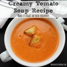 Easy Creamy Tomato Soup Recipe To Make in Your Crockpot sq