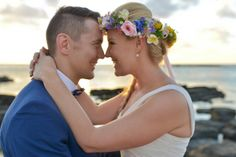 Jessica & Francois& Destination Vintage Wedding in Mauritius Vintage Beach Weddings, Mauritius, Flower Crown, Destination Wedding, Bride, Flowers, Flower Headdress, Wedding Bride, Floral Wreath