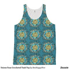 Unisex Faux Crocheted Tank Top All-Over Print Tank Top
