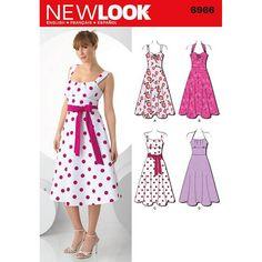 englisches Schnittmuster  NewLook 6966 Kleid