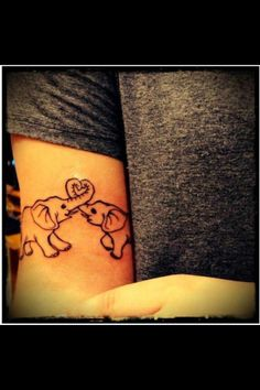 i think this is really cute. i like elephants and i think this would be a really cute tattoo.