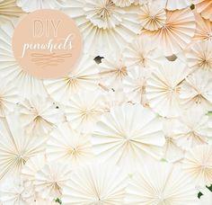Gorg #DIY #pinwheel #backdrop adds elegance to any event! Nice photo via #weddingchicks
