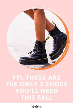Here are the only three shoe styles you need to buy this fall to look 100 percent on trend. #fall #shoes #boots
