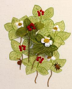 Bunch Berries. Kay Dennis Stumpwork - Gallery