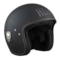 Harley-Davidson® Men's 3/4 Helmet, Blast Willie G Skull, Matte Black