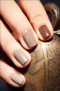 Brown ombre nails
