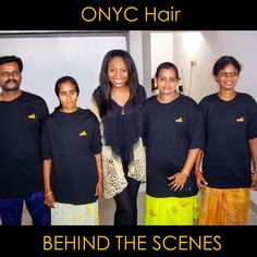 Do you know where your virgin hair comes from? At ONYC, we know exactly where our hair comes from. It comes from our very own factories. Here is an image of our CEO Thelma with our employees in India.  #BTS #Workers #Factories #WorldWide