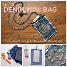 No Sew Denim Mini Bag