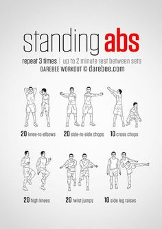 20 Stomach Fat Burning Ab Workouts From NeilaRey.com! #abdominalworkout