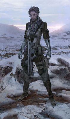 CyberPunk Art Siberian Plague Girl by Sanchiko Character Concept, Character Art, Concept Art, Armor Concept, Cyberpunk Character, Cyberpunk Art, Blade Runner, Nail Bat, Samurai