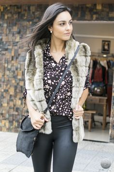 #debrummodas #inverno  #colete #camisa #estampada #style #estilo #moda #fashion #modafeminina
