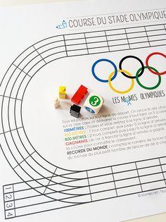 Le jeu de la course du stade Olympique : une petite course de dé amusante et sportive !