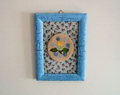 TAKE AN ADDITIONAL 10% OFF - 30 OFF SALE  Flower Punchneedle Picture  Framed by DocksideDesigns, $14.00