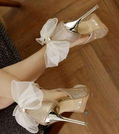 475c75c268ab グリッターxストラップリボンブライダル・パーティシューズ. Bridal ShoesWedding ...