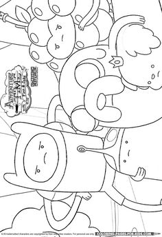 34 Best Adventure Time Coloring Pages Images Adventure Time