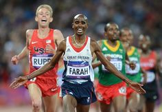 Mo Farah and Galen Rupp - gold and silver medals in the 10000