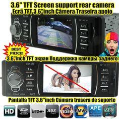 new 3.6'' TFT HD Car Audio radio Stereo MP5 MP4 Player 12V Car Audio Video MP5 FM USB/SD/1 Din In-Dash support rear Camera 3615R