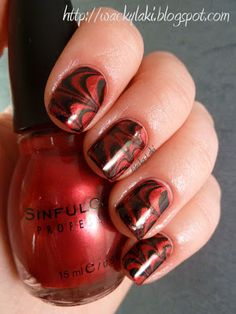 Nails --water marbled
