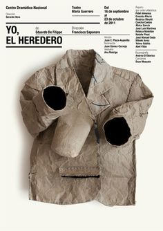 Isidro Ferrer: theater poster design for Centro Dr Graphic Design Print, Graphic Design Illustration, Poesia Visual, Cool Posters, Graphic Posters, Graphic Art, Design Graphique, Typography Poster, Layout Inspiration