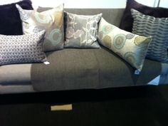 Pillow assortment at Room and Board