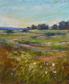 Items similar to NANTUCKET Landscape wildflower meadow Original Pastel Painting Karen Margulis on Etsy Pastel Landscape, Landscape Paintings, Abstract Landscape, Abstract Art, Acrylic Painting Inspiration, Painting Workshop, Art Courses, Acrylic Art, Acrylic Paintings