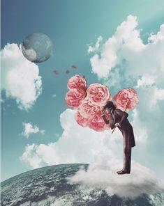 collage art by Trash Riot Collages, Surreal Collage, Surreal Art, Photomontage, Photoshop, Rose Art, Arte Pop, Salvador Dali, The Villain