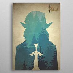 Zelda Breath of the Wild by Betty Poëdras Zelda Breath, Breath Of The Wild, Bath Towels, Posters, Metal, Poster