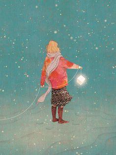 luminous (2013) personal work ,digital painting, photoshop illustration by gobugi
