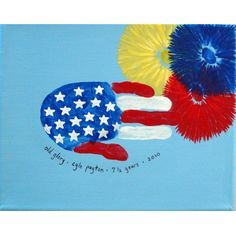 handprint flag-I'm going to try to make these with the kids for our shirts for July 4 this year. :)