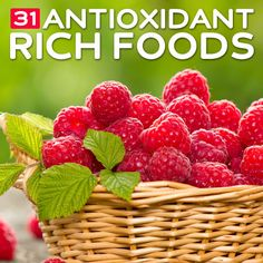 31 Antioxidant-Rich Foods- to fight free radical damage.