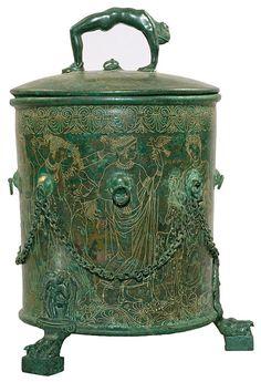 Cista with cover Praenestine, ca. 300 B.C. Bronze www.themorgan.org