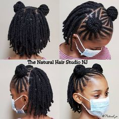 Lil Girl Hairstyles, Little Girls Natural Hairstyles, Toddler Braided Hairstyles, Afro Hairstyles For Kids, Little Girl Braids, Braids For Kids, Girls Braids, Hair Twist Styles, Kid Braid Styles