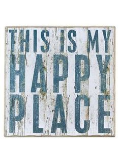 """This is my Happy Place"" Rustic Wall Decor 