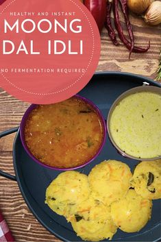 Moong Dal or yellow lentil idlis are protein rich breakfast. They are quick and esayvto prepare and no fermentation required.