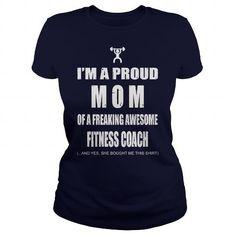 Fitness Coach Mom T Shirts, Hoodies. Get it here ==► https://www.sunfrog.com/Jobs/Fitness-Coach-Mom-109136287-Navy-Blue-Ladies.html?41382