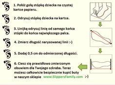 Slippers'owa instrukcja pomiaru dziecięcych stópek. Challenge accepted! ;)