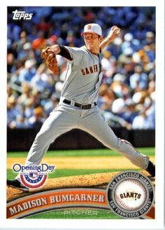 2011 Topps Opening Day Baseball Card #201 Madison Bumgarner - San Francisco Giants - MLB Trading Card In A Protective Screwdown Display Case! by Topps. $2.95. 2011 Topps Opening Day Baseball Card #201 Madison Bumgarner - San Francisco Giants - MLB Trading Card In A Protective Screwdown Display Case!