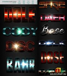 10 Text Effects Vol. 20 21334512 Photoshop PSD, ASL 23 Mb Pack contains . Free font used (Links in Fonts file 3d Logo, Text Effects, Photoshop Actions, Illustrator, Fonts, Type, Studio, Block Prints, Study