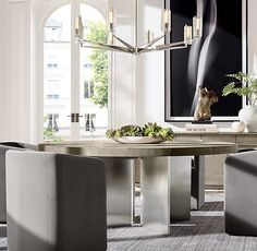 We've never had a circular table! Table Easel, Round Chandelier, Chandeliers, Circular Table, Furniture Vanity, Round Dining Table, Fine Dining, Home Hardware, Home Rugs