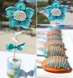 The Gourmet Pop whipped up these super cute spoon cake pops - will have to try this idea!