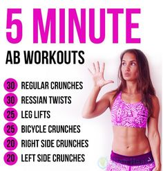 5 minutes #ab_workouts for women.
